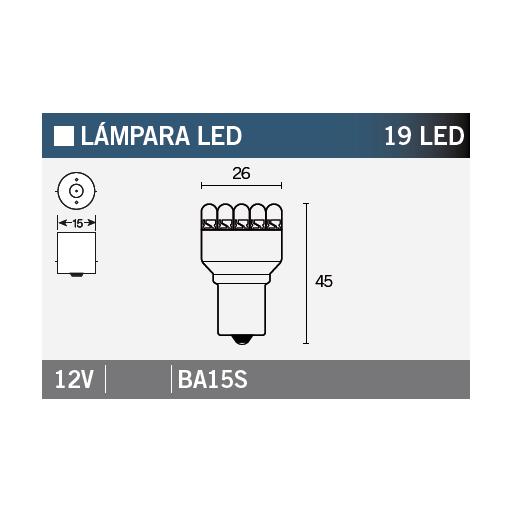 Bec LED 19 LED VLAMP 14647 STANDARD LINE