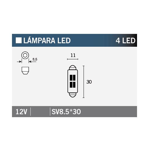 Bec LED 4 LED VLAMP 14655 STANDARD LINE